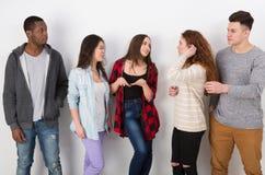 Творческая команда, молодые вскользь бизнесмены Стоковое Изображение