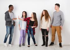 Творческая команда, молодые вскользь бизнесмены Стоковая Фотография