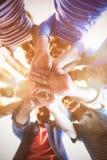 Творческая команда дела штабелируя руки совместно Стоковая Фотография