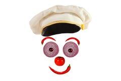 Творческая концепция еды Смешной портрет капитана дальнего плавания сделал veg Стоковое Фото