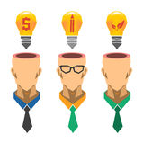 Творческая концепция идеи электрической лампочки, идея дела, идея экологичности Стоковые Изображения