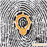 Творческая концепция идеи электрической лампочки с символом отпечатка пальцев Educat Стоковая Фотография