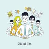 Творческая концепция команды иллюстрация вектора