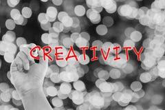 Творческая концепция с творческими способностями сочинительства руки Стоковое Изображение