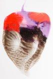 Творческая краска искусства, современный абстракционизм, сердце Стоковые Фото