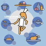 Творческая кухня или варить значок вебсайта плоский Стоковое фото RF