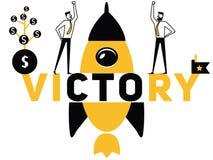 Творческая победа и люди концепции слова делая вещи иллюстрация штока