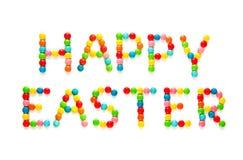 Творческая поздравительная открытка счастливая пасха Стоковые Изображения RF