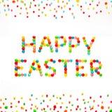 Творческая поздравительная открытка счастливая пасха Стоковая Фотография