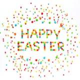 Творческая поздравительная открытка счастливая пасха Стоковое Изображение RF