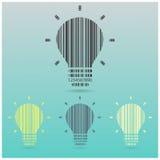 Творческая предпосылка концепции идеи электрической лампочки Стоковая Фотография