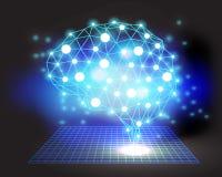 Творческая предпосылка концепции мозга иллюстрация штока