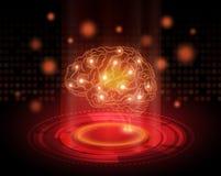 Творческая предпосылка концепции мозга бесплатная иллюстрация