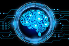 Творческая предпосылка концепции мозга Стоковое фото RF