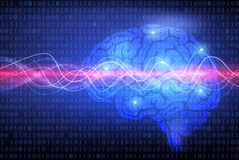 Творческая предпосылка концепции мозга Стоковые Изображения RF