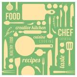 Творческая предпосылка кухни Стоковая Фотография RF