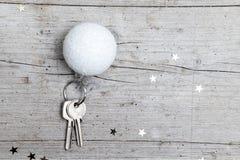 Творческая предпосылка рождества с ключом Стоковое Изображение