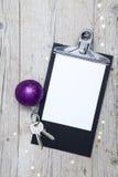 Творческая предпосылка рождества с ключом Стоковые Изображения