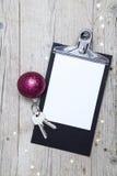 Творческая предпосылка рождества с ключом Стоковое Изображение RF