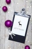 Творческая предпосылка рождества с ключом Стоковая Фотография RF