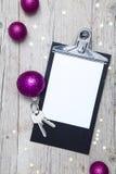 Творческая предпосылка рождества с ключом Стоковые Изображения RF