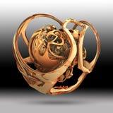 Творческая предпосылка с 3D представила элемент Стоковое Изображение