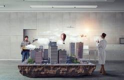 Творческая работа группы архитектора Мультимедиа Стоковые Изображения