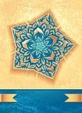 Творческая рогулька с абстрактной звездой цветка в морском беже Стоковые Изображения