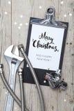 Творческая рождественская открытка для дела установки Стоковое Изображение