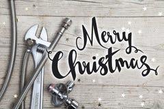 Творческая рождественская открытка для дела установки Стоковое Изображение RF