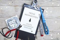 Творческая рождественская открытка для electrican дела Стоковое Изображение