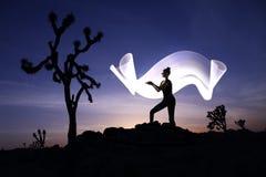 Творческая светлая картина с освещением трубки цвета с ландшафтами стоковое изображение rf