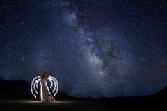 Творческая светлая картина с освещением трубки цвета с ландшафтами стоковые фото