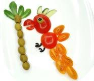 Творческая смешная vegetable закуска с томатом Стоковая Фотография