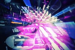 Творческая станция игрока DJ Стоковые Изображения