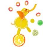 Творческая форма слона еды студня плодоовощ мармелада сладостная Стоковые Изображения
