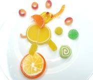 Творческая форма слона еды студня плодоовощ мармелада сладостная Стоковые Фото
