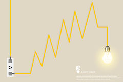 Творческая электрическая лампочка Стоковые Изображения