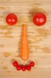 Творческая vegetable усмехаясь сторона Стоковые Изображения RF