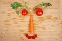 Творческая vegetable усмехаясь сторона Стоковые Изображения