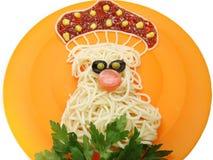 Творческая vegetable форма гриба обедающего еды Стоковое Фото