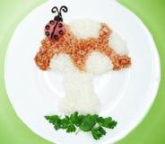 Творческая vegetable форма гриба обедающего еды Стоковые Изображения