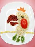 Творческая vegetable форма птицы попугая обедающего еды Стоковые Изображения
