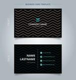Творческие визитная карточка и шаблон карточки имени, картина o шеврона бесплатная иллюстрация