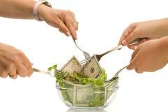творческие деньги еды Стоковые Изображения