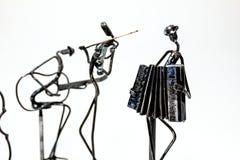 Творческие диаграммы музыкантов, гитариста, скрипача и accordio стоковое изображение rf