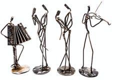 Творческие диаграммы музыкантов, скрипача и accordionist pl стоковое изображение