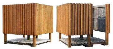 Творческие деревянные кабины пляжа Стоковые Изображения