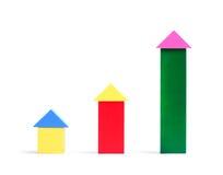 Творческие деревянные экологические игрушки для конструкции Мульти-красочные деревянные строительные блоки куба для детей Стоковые Фото