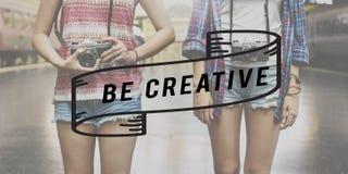 Творческие идеи творческие способности думают вне концепции коробки Стоковое фото RF